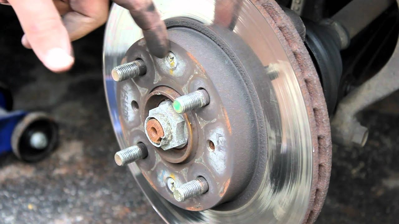 How to Change Front Brakes Honda Civic 92-95 - YouTube