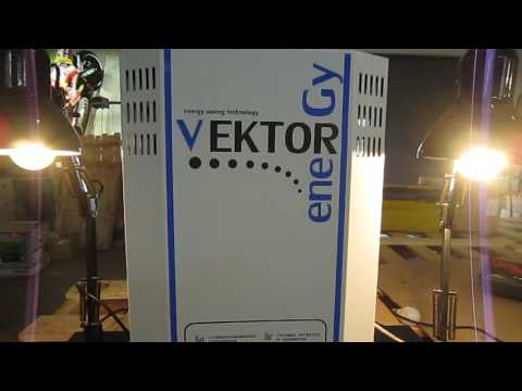 Работа сварочного аппарата через стабилизатор напряжения Vektor (Вектор).