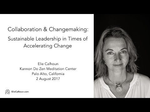 Elie Calhoun on Changemaking at Kannon Do Zen Meditation Center 2017