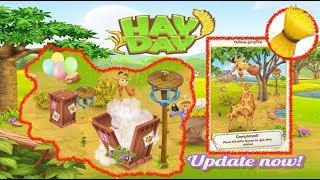 Hay Day - June 2017 Update - Sanctuary, Giraffes, Wheat Bales.
