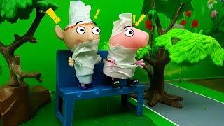 Nuovo Episodio con Masha e Orso: Holly trasforma Peppa Pig in slime , con Superpigiamini in Italiano