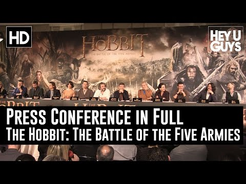 The Hobbit: The Battle of the Five Armies Press Conference in Full (Jackson, Armitage, Serkis)