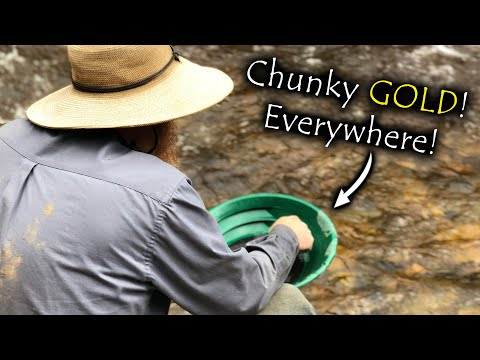 MASSIVE Gold Deposit With, GREAT CHUNKY GOLD!