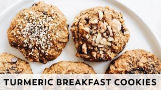 Turmeric Latte Breakfast Cookies // vegan, gluten-free, paleo