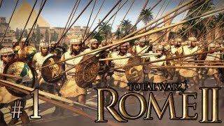 Total War: Rome II (Египет, легендарная сложность) #1 - Галактические слоники!