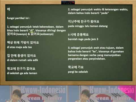 Kwow Indonesia 3# Partikel Bahasa Korea