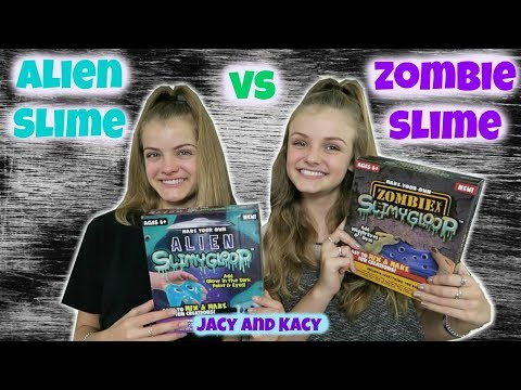 Thumbnail: Alien Slime vs Zombie Slime ~ Save or Spend ~ Jacy and Kacy