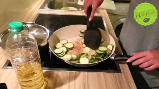 Wir kochen mit HELLOFRESH #2 - Marrokanisches Hähnchen mit Zucchini, Erbsen, Reis und Jogurth Sauce