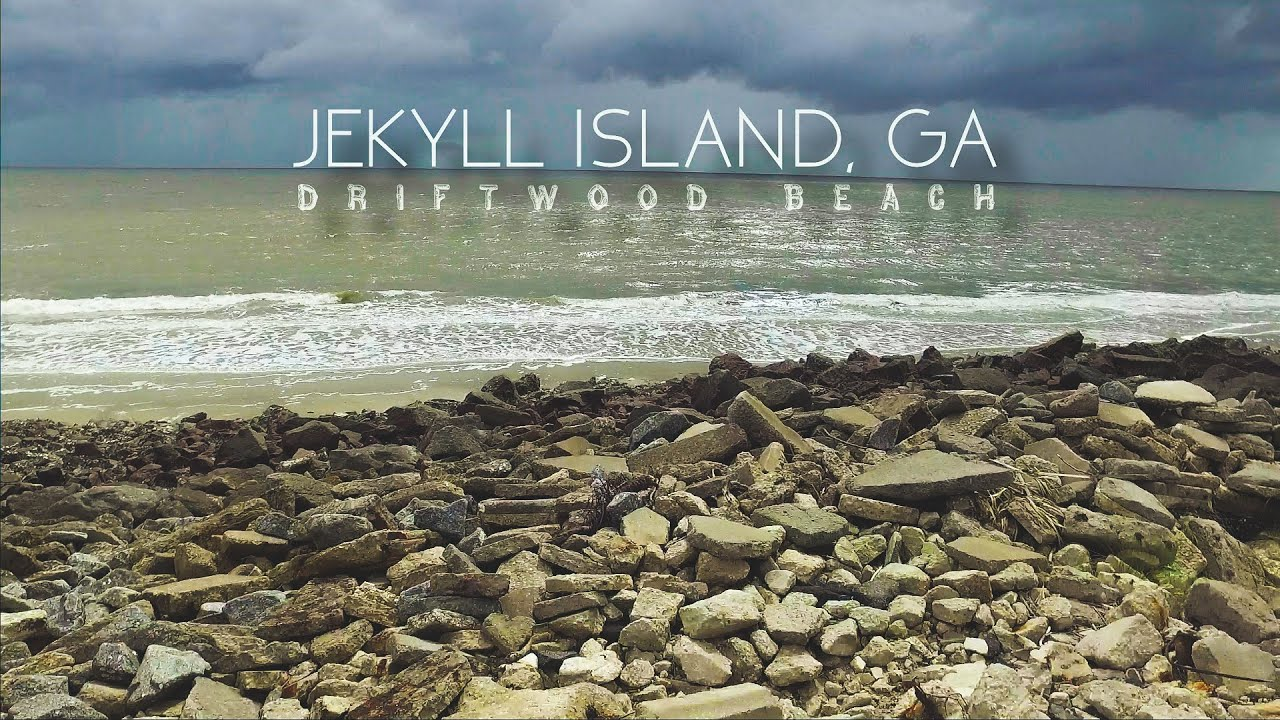 Driftwood Beach Drone Aerial Footage Jekyll Island Ga