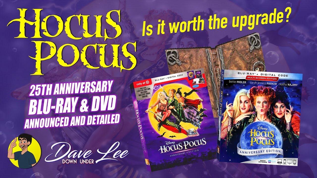 Disney's hocus pocus: 25th anniversary edition blu-ray, dvd.