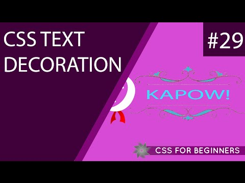 CSS Tutorial For Beginners 29 - Text Decoration