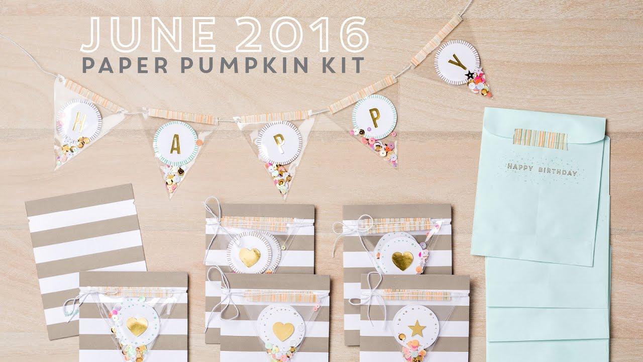 Paper Pumpkin June 2016