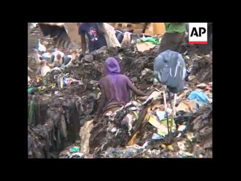 Entire families live their lives on a rubbish dump in Kenya