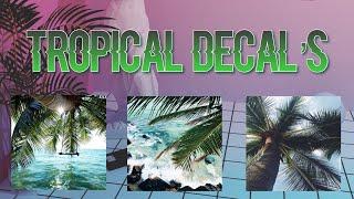 Roblox Bloxburg - Tropical Decal Id's