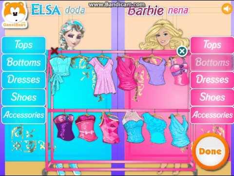 barbie vs elsa game online