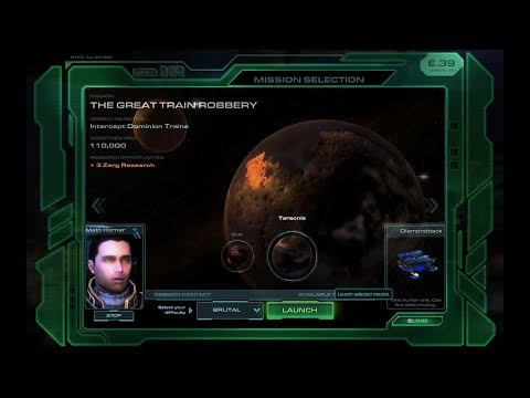 Starcraft 2: Wings of Liberty Campaign -- Great Train Robbery on Brutal