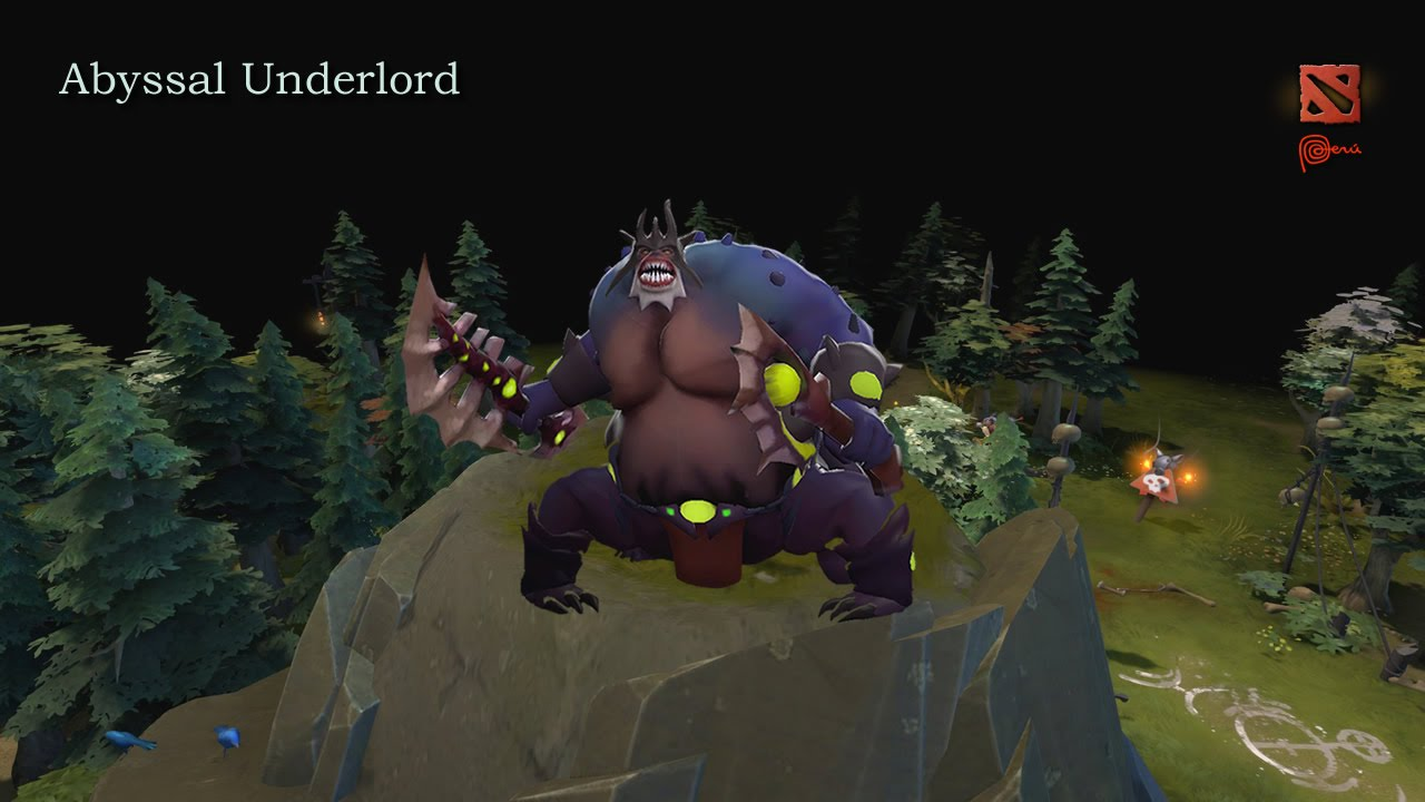dota 2 abyssal underlord s animations youtube