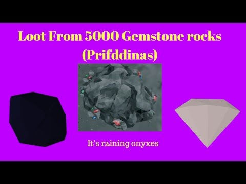 Loot from 5000 Gemstone Rocks(Prif)- It's Raining Onyxes