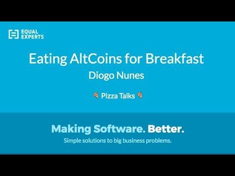 """Eating AltCoins for breakfast"" by Diogo Nunes @ Pizza Talks Lisbon"