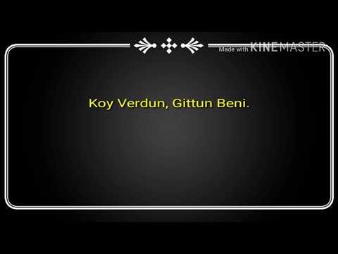 Kazim Koyuncu: Hic Mi Düşünmedin Sen, Sozlu Version (lyrics)