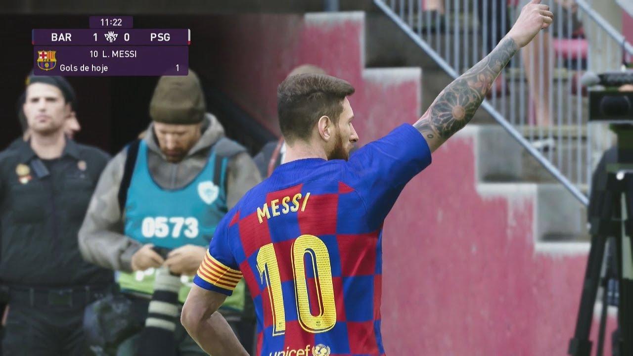 Barcelona Vs PSG - PES 2020 - YouTube