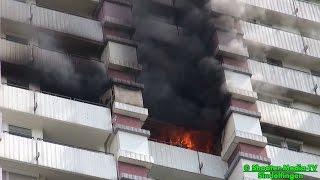 [E] - EINSATZDOKU: [HOCHHAUSBRAND IN SINDELFINGEN] - Großalarm für die Feuerwehr im Landkreis BB