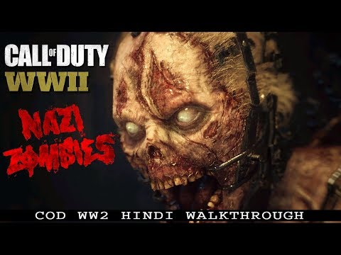 "Call Of Duty WW2 (PS4 Pro) Hindi ""NAZI ZOMBIES - The Final Reich"" (COD WWII)"