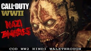 """Call Of Duty WW2 (PS4 Pro) Hindi """"NAZI ZOMBIES - The Final Reich"""" (COD WWII)"""