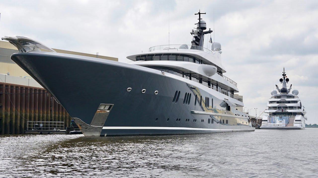 4k Boat Tour 2 Yacht Al Lusail And Phoenix 2 Lurssen Shipyard