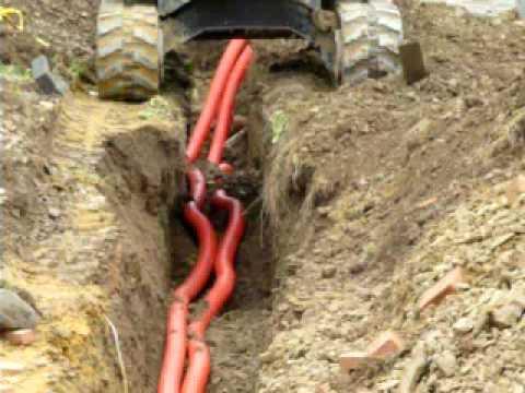 Installation des gaines pour l'électricité