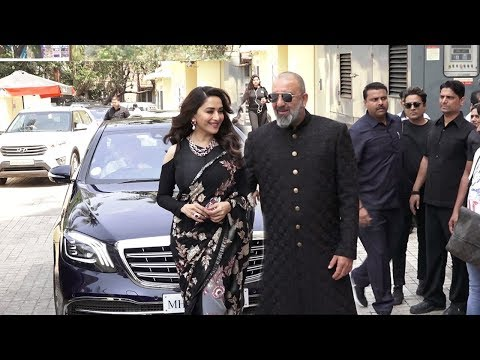 Sanju Baba's MACHO ENTRY With Ex Gf Madhuri Dixit At Kalank Trailer Launch