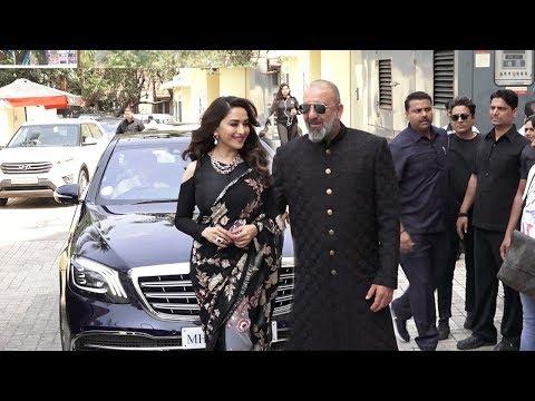 Sanju Baba's MACHO ENTRY With Ex Gf Madhuri Dixit At Kalank Trailer Launch