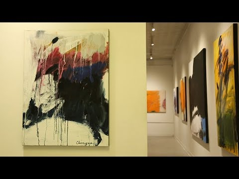 90 Year Old Chinese Female Artist Creating Abstract Works
