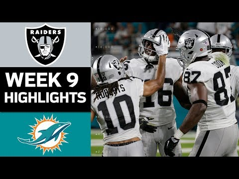 Raiders vs. Dolphins | NFL Week 9 Game Highlights