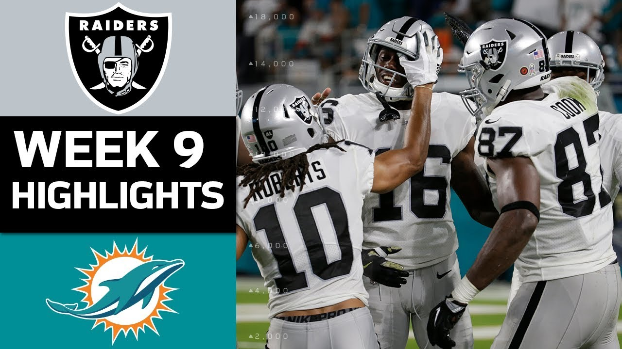 Raiders vs. Dolphins   NFL Week 9 Game Highlights