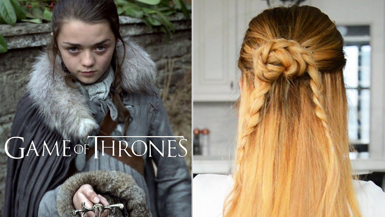 Arya Stark Inspired Hairstyle Game Of Thrones Hair Tutorial Youtube