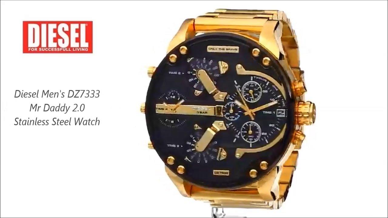 diesel men 39 s dz7333 mr daddy 2 0 stainless steel watch. Black Bedroom Furniture Sets. Home Design Ideas