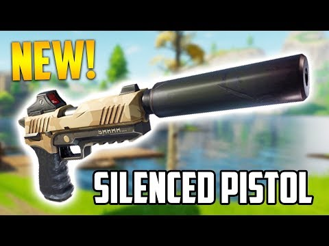 NEW UPDATE!! *LEGENDARY SILENCED PISTOL* (Fortnite Battle Royale)