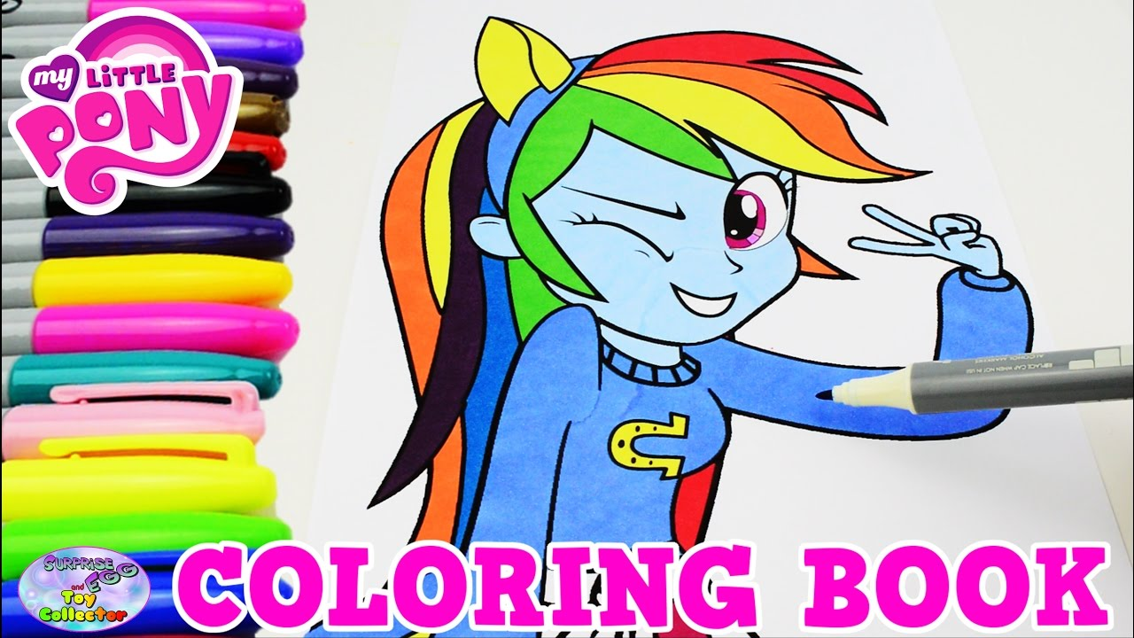 my little pony coloring book rainbow dash mlp mlpeg episode