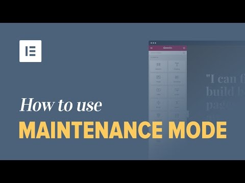 How to Put Maintenance Mode on WordPress with Elementor (No Other Plugin Needed)