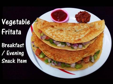 Vegetable Fritata   Veg Fritata   Instant Snack   Break Fast   Evening Snack   Easy & Tasty Snack
