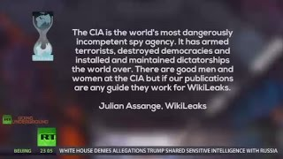 Assange  CIA is the world's most dangerously incompetent spy agency