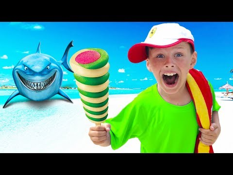 Ali Playing with Ice Cream and Toys, top kids videos compilation