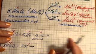 Химические свойства соединений марганца Mn (+7). Решаем окислительно-восстановительные реакции.