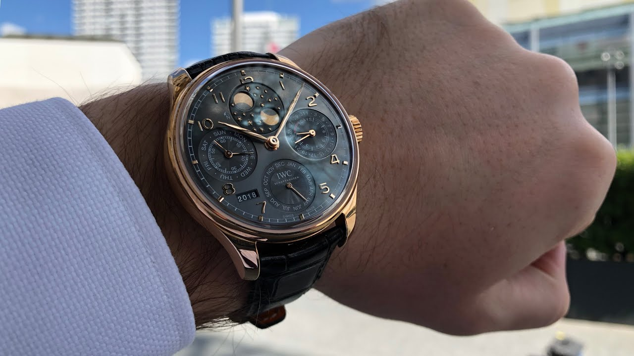 iwc portugieser perpetual calendar youtube. Black Bedroom Furniture Sets. Home Design Ideas