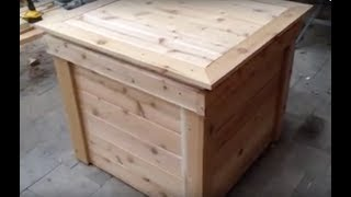 130 Gallon Cedar Rain Barrel / Bench