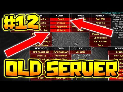 USING PVP KILL AURA REACH HACKS!! | OLDEST SERVER IN MINECRAFT #12