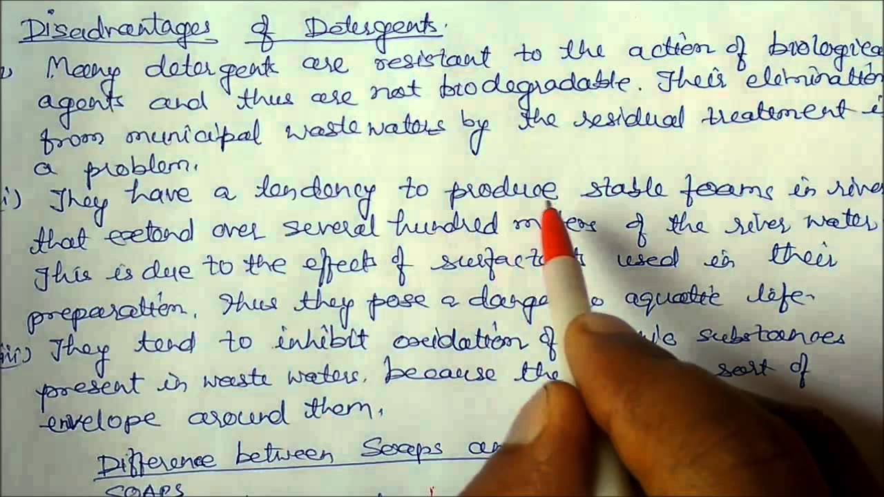 Carbon and Its Compounds :-Class 10 Lecture notes 13 (Detergents) Chemistry