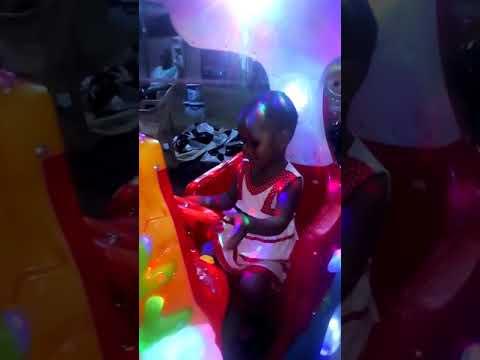 Claudia having fun at trade fair centre LA