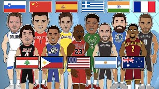 The Best NBA Player from Each Country! (NBA Comparison Animation)